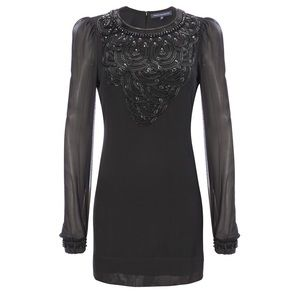 French Connection Beaded Dress US 2